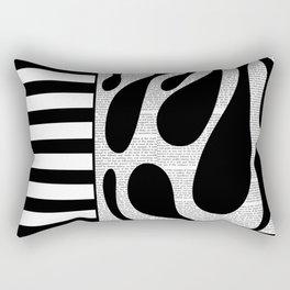 Black Fronds 1 Rectangular Pillow