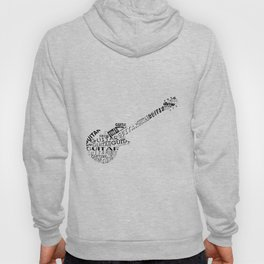 Guitar In Text Hoody