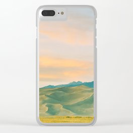 Sunset, Great Sand Dunes, Colorado Clear iPhone Case