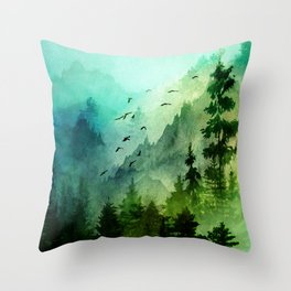 Mountain Morning Throw Pillow