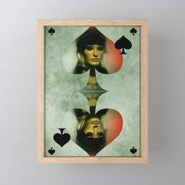 queen of clubs -2- Framed Mini Art Print