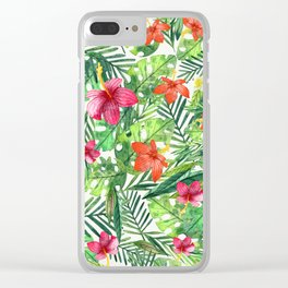 TROPICAL FLORAL 5 Clear iPhone Case