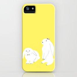 cute bunnies iPhone Case