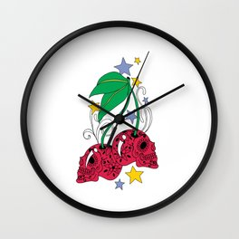Pink Metal 5 Wall Clock