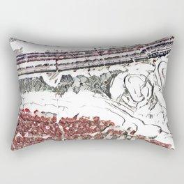 Marble Floor Pencil Color Sketch Rectangular Pillow