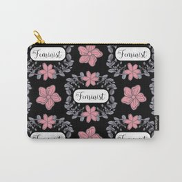 Feminist Fashion Print - Lovely Florals Carry-All Pouch