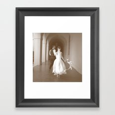 Runaway Wedding Framed Art Print