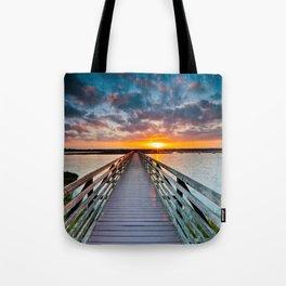 Bolsa Chica Wetlands Sunrise  6/18/14 Tote Bag