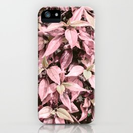 #Pink Foliage #nature #abstract iPhone Case