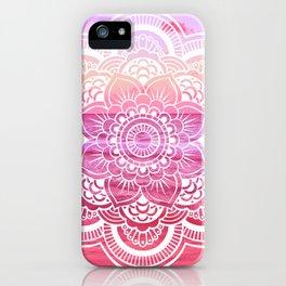 Water Mandala Hot Pink Fuchsia iPhone Case