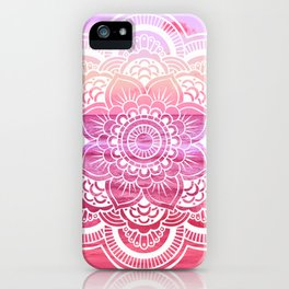 Water Mandala Hot Pink Fuchsia iPhone Case