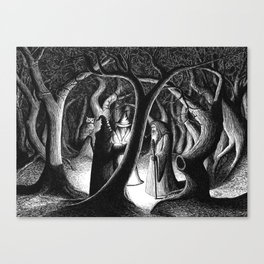 Wizards In The Woods Canvas Print