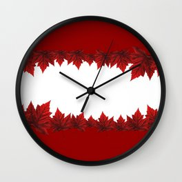 Canada Souvenir Red Maple Leaf Wall Clock