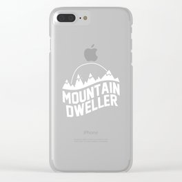 Men's Mountain Dweller Graphic Outdoors T-shirt XL Black Clear iPhone Case
