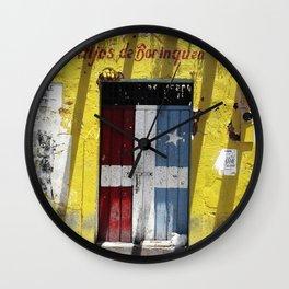 Hijos de borinquen Wall Clock
