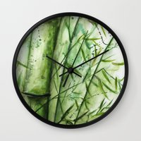 bamboo Wall Clocks featuring Bamboo by rchaem