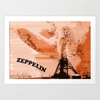 led zeppelin Art Prints featuring Zeppelin by Avigur