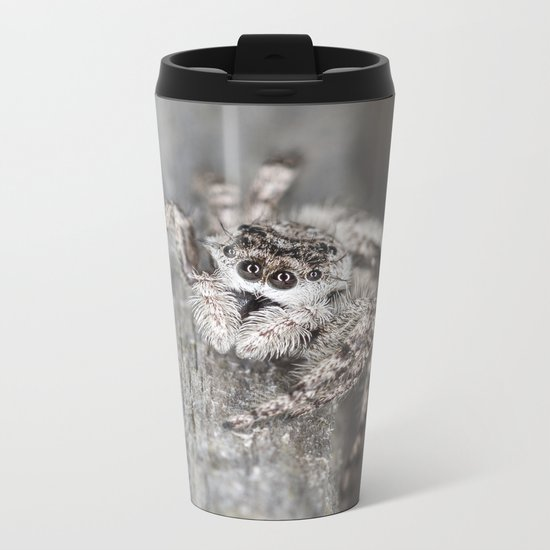 Jumping Spider Metal Travel Mug