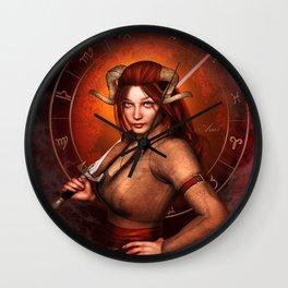 Aries zodiac fantasy circle Wall Clock