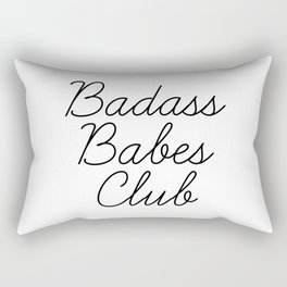 badass babes club Rectangular Pillow