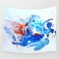 thor Wall Tapestries featuring Thor by Rose's Creation