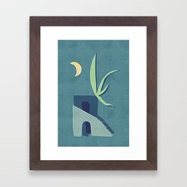 Moon House Framed Art Print