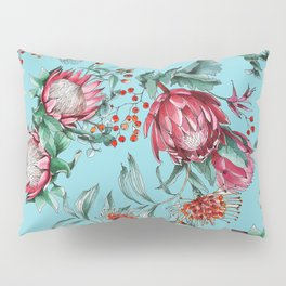 King protea flowers watercolor illustration Pillow Sham