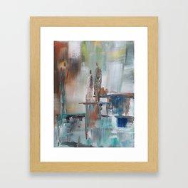 Waterfall Japanese Waterblock Framed Art Print