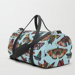 summer butterflies multi sky Duffle Bag