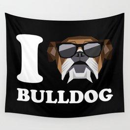 I Love Bulldog modern v2 Wall Tapestry