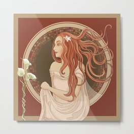 The Green Eyed Girl Metal Print