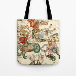 Cetus, Aquarius, Andromeda, Pegasus, Phoenix, Aries, Triangulum And Other Constellations Tote Bag