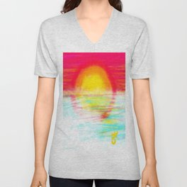 Sunset Sun Unisex V-Neck