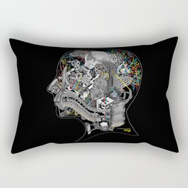 EL HOMBRE SIN ALIENTO (THE MAN WITHOUT BREATH) Rectangular Pillow