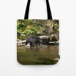 The Salmon Whisperer - A Hunting Black Bear Tote Bag