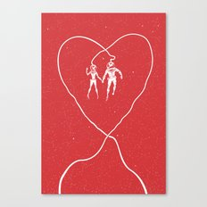 Love Space, Red Canvas Print
