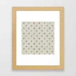 Gold and Abalone Ek Onkar / Ik Onkar pattern Framed Art Print