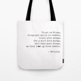 Trust No Kings - Atticus - Typewriter Tote Bag