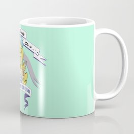 Miss Who Stuffs Her Face in mint Coffee Mug