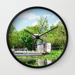 Everglades Safari Boat Wall Clock