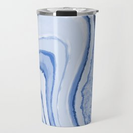 Blue Crystal Watercolor Effect Design Travel Mug