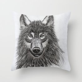 Wolf // #ScannedSeries Throw Pillow