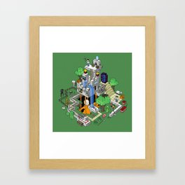 Mine City Framed Art Print