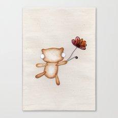 Loves Me, Loves Me Not, Loves Me! - Zombie Bear Canvas Print