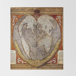 Heart of the World Throw Blanket