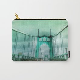 St John's Bridge Portland Oregon Carry-All Pouch
