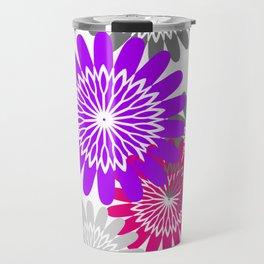 Cool Flower Stencils Travel Mug
