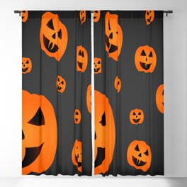 halloween pumpkin Blackout Curtain