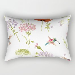 Hummingbird floral Rectangular Pillow