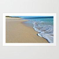 Beach time serenity Art Print